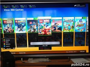 xbox 360 slim 250 gb, 48 jocuri ,kinect , GTA 5 , FIFA 18 , WW2K17 - imagine 9