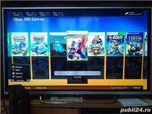 xbox 360 slim 250 gb, 48 jocuri ,kinect , GTA 5 , FIFA 18 , WW2K17 - imagine 10