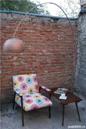 Lampadar cu picior reglabil si abajur metalic  (Lampa/Veioza/Corp iluminat)  - imagine 6