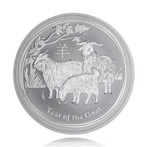 Moneda de Argint Lunar II Series Goat 2015 1oz - imagine 1