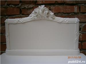 Noptiere vechi stil Ludovic XVI, albe, reconditionate (Mobila lemn/Dulapior/Comoda)  - imagine 6