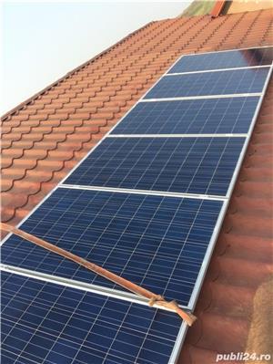 Sistem solar fotovoltaic ! panouri , acumulatori , invertor, regulator - imagine 3