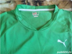 Tricou Puma nou XL femei, barbati L verde cu alb - imagine 3