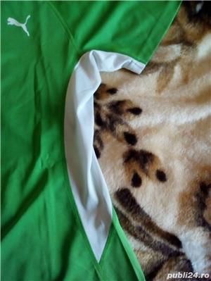 Tricou Puma nou XL femei, barbati L verde cu alb - imagine 4