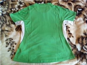 Tricou Puma nou XL femei, barbati L verde cu alb - imagine 5