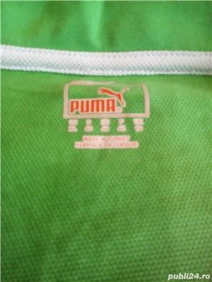 Tricou Puma nou XL femei, barbati L verde cu alb - imagine 2
