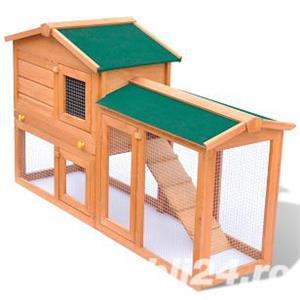 Cusca iepuri pentru exterior sau animale mici din lemn ,vidaXL,(170162) - imagine 1