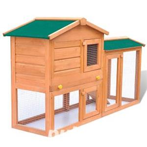 Cusca iepuri pentru exterior sau animale mici din lemn ,vidaXL,(170162) - imagine 2
