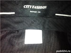 Pantaloni de vara negri fini delux cityfashion - imagine 3