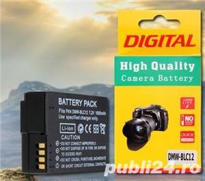 Acumulator Panasonic DMW-BLC12 Lumix DMC-GH2 G5 G6 G7 GX8 FZ300 200 - imagine 1