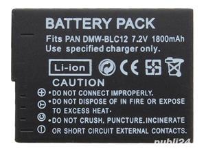Acumulator Panasonic DMW-BLC12 Lumix DMC-GH2 G5 G6 G7 GX8 FZ300 200 - imagine 3