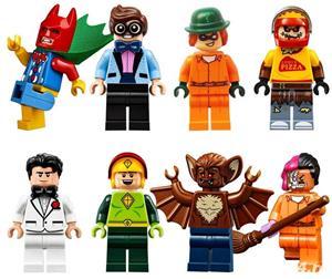 Set 8 Minifigurine tip Lego Batman 2017 cu Scarecrow Pizza Delivery - imagine 1