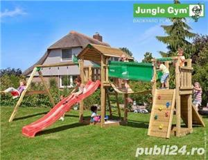 Loc de joaca Jungle Gym Cottage-Bridge-Swing - LIVRARE IN TOATA TARA - imagine 2