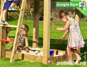 Loc de joaca Jungle Gym Cottage-Bridge-Swing - LIVRARE IN TOATA TARA - imagine 4