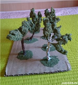 macheta copaci pomi arbori arbusti ptr. diorama trenulet, modelism, proiect cartier arhitectura - imagine 3
