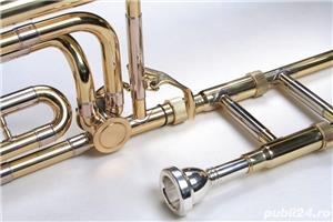 Tombon Karl Glaser Bb trombon cu F-atasament + trunchi Auriu - imagine 2
