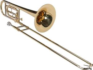 Tombon Karl Glaser Bb trombon cu F-atasament + trunchi Auriu - imagine 1