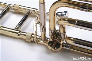 Tombon Karl Glaser Bb trombon cu F-atasament + trunchi Auriu - imagine 3