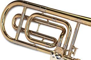 Tombon Karl Glaser Bb trombon cu F-atasament + trunchi Auriu - imagine 4