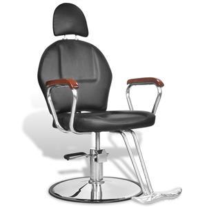 Scaun profesional de frizer, cu tetiera si piele artificiala, negru, vidaXL 110122 - imagine 5