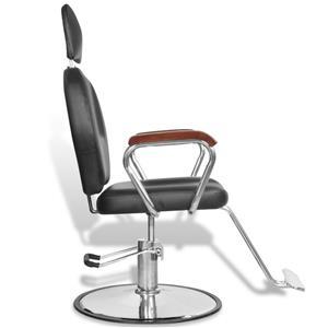 Scaun profesional de frizer, cu tetiera si piele artificiala, negru, vidaXL 110122 - imagine 1