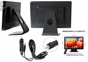 Televizor 12v tv portabil LED HD ∅ 40cm Auto Rulota Camion Tir Camping - imagine 2