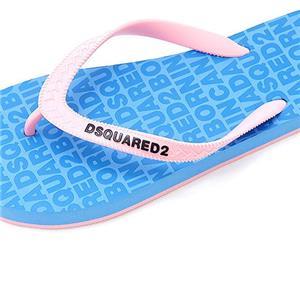 Flip-flops Dsquared beach,logo print,produs original - imagine 1