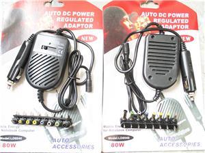 Incarcator Laptop  80W  auto 12V 15V 16V 18V 19V 20V max 4 Ahm 22V 24V max 3 Ahm, 8 tipuri de  - imagine 1