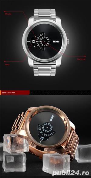 Ceas Barbatesc SKMEI B 101 Fashion, Cadran 5CM ,Argint - imagine 7