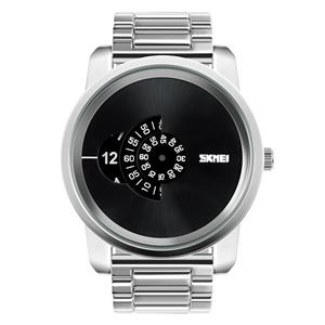 Ceas Barbatesc SKMEI B 101 Fashion, Cadran 5CM ,Argint - imagine 1