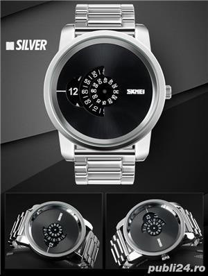Ceas Barbatesc SKMEI B 101 Fashion, Cadran 5CM ,Argint - imagine 3