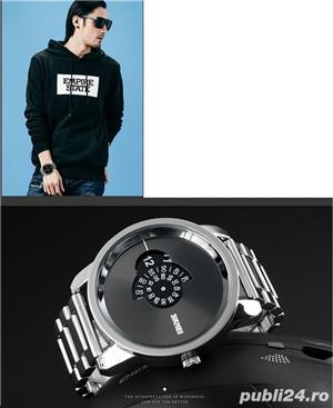 Ceas Barbatesc SKMEI B 101 Fashion, Cadran 5CM ,Argint - imagine 4