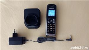 Telefon GSM fix mobil Panasonic KX-TW201 RMBA (vodafone) black - imagine 1