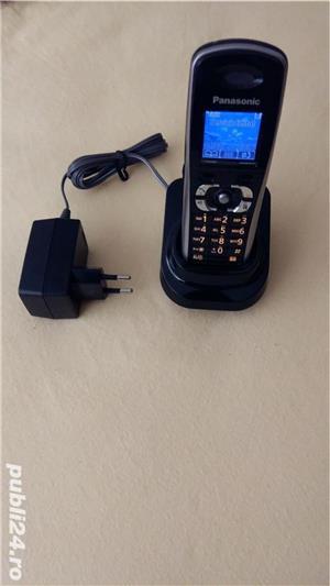 Telefon GSM fix mobil Panasonic KX-TW201 RMBA (vodafone) black - imagine 2