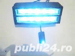 Proiector auto 12V 6 leduri  albastre suporti reglabili de prindere Pret 10 lei 2 buc 15 lei - imagine 1