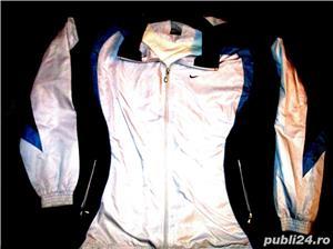 Bluze trening Nike gri bleumarin material bumbac, 2 buzunare, lungime 70 cm, latime 60 cm.  - imagine 3