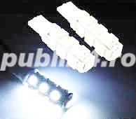 Led SMD auto 12V 13 leduri pozitie, numar sau interior lumina super white  Tuning auto - imagine 1