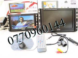 Televizor auto 12V  220V 18 cm Color, slot de card  si USB, priza 220V si 12V - imagine 2