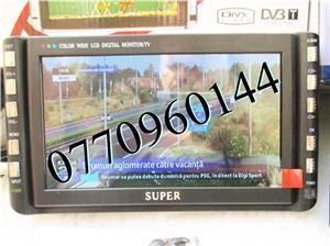Televizor auto 12V  220V 18 cm Color, slot de card  si USB, priza 220V si 12V - imagine 9
