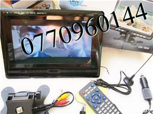 Televizor auto 12V  220V 18 cm Color, slot de card  si USB, priza 220V si 12V - imagine 8