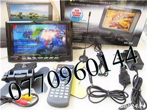 Televizor auto 12V  220V 18 cm Color, slot de card  si USB, priza 220V si 12V - imagine 7