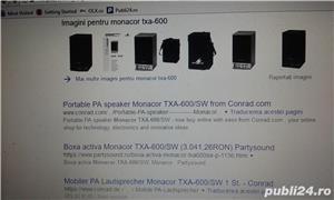 boxa activa 500w cu intrare auxiliar laptop, mobil, cd,ipod, etc ideal pentru sonorizari evenimente - imagine 14