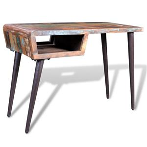 Birou din lemn reciclat cu picioare de fier 241138 - imagine 1