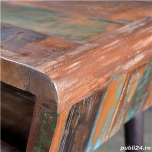 Birou din lemn reciclat cu picioare de fier 241138 - imagine 5