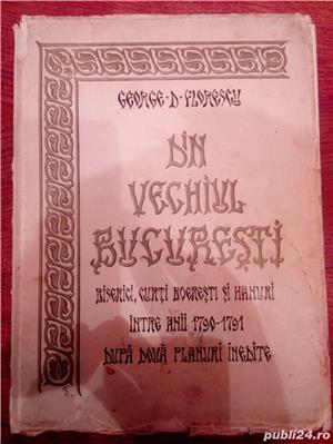 """Carte veche, an 1935, """" Din Vechiul Bucuresti """" - George Florescu.  - imagine 1"""