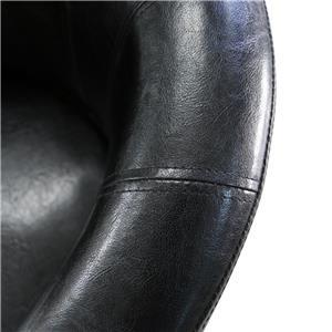 Fotoliu din piele artificiala, negru 241743 - imagine 5