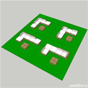 Set mobilier de gradina din poliratan 15 piese Maro 41256 - imagine 2