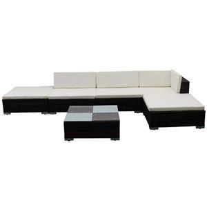 Set mobilier de gradina din poliratan 15 piese Maro 41256 - imagine 1