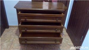 Comodă  cu 4 sertare din lemn de stejar   - imagine 3