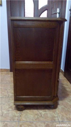 Comodă  cu 4 sertare din lemn de stejar   - imagine 5